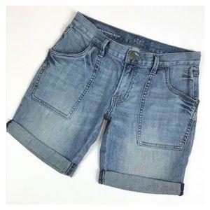 LOFT Denim Boyfriend Shorts Size 12